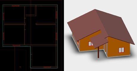 مثال های پایه ای و کاربردی اتوکد سه بعدی