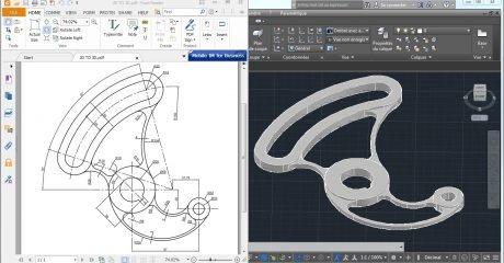 مثال های پیشرفته اتوکد سه بعدی سطح پیشرفته