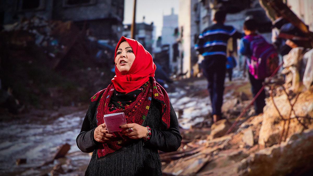 سخنرانی تد : چرا خود را برای نقل داستانهای غزه به خطر میاندازم