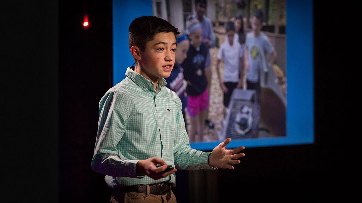 سخنرانی تد : برنامه یک مخترع جوان برای بازیافت استایروفوم (یونولیت)