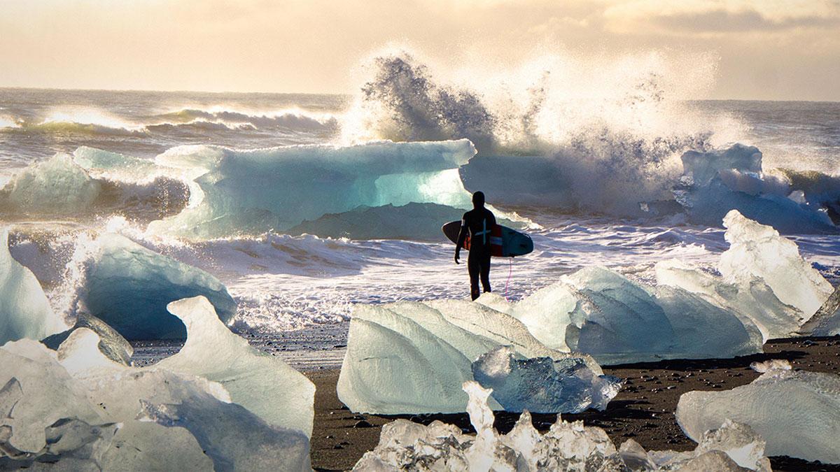 سخنرانی تد : لذت موج سواری در آب یخ