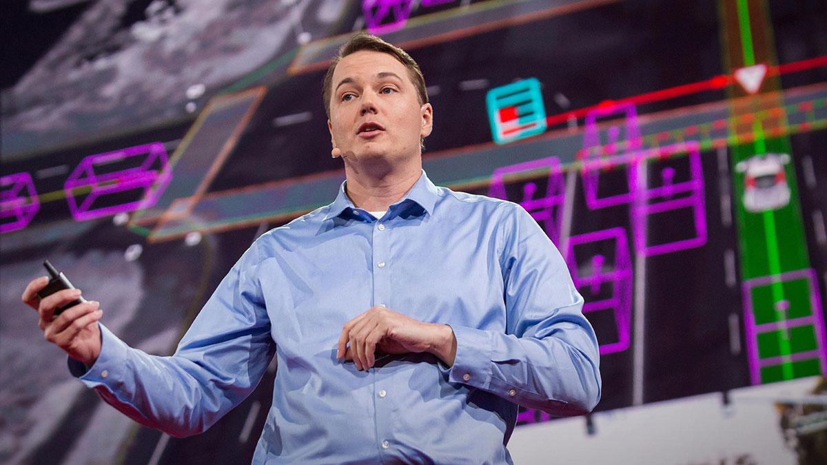 سخنرانی تد : یک خودروی خودران چطور جاده را می بیند؟