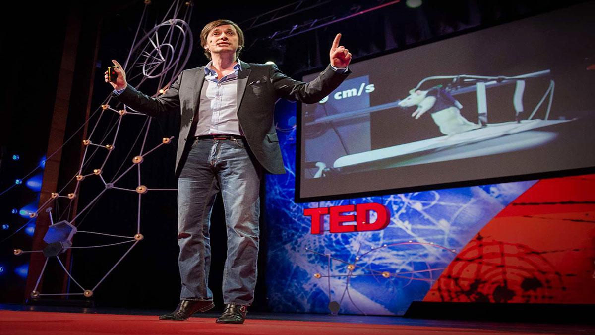 سخنرانی تد : موش فلجی که راه رفت