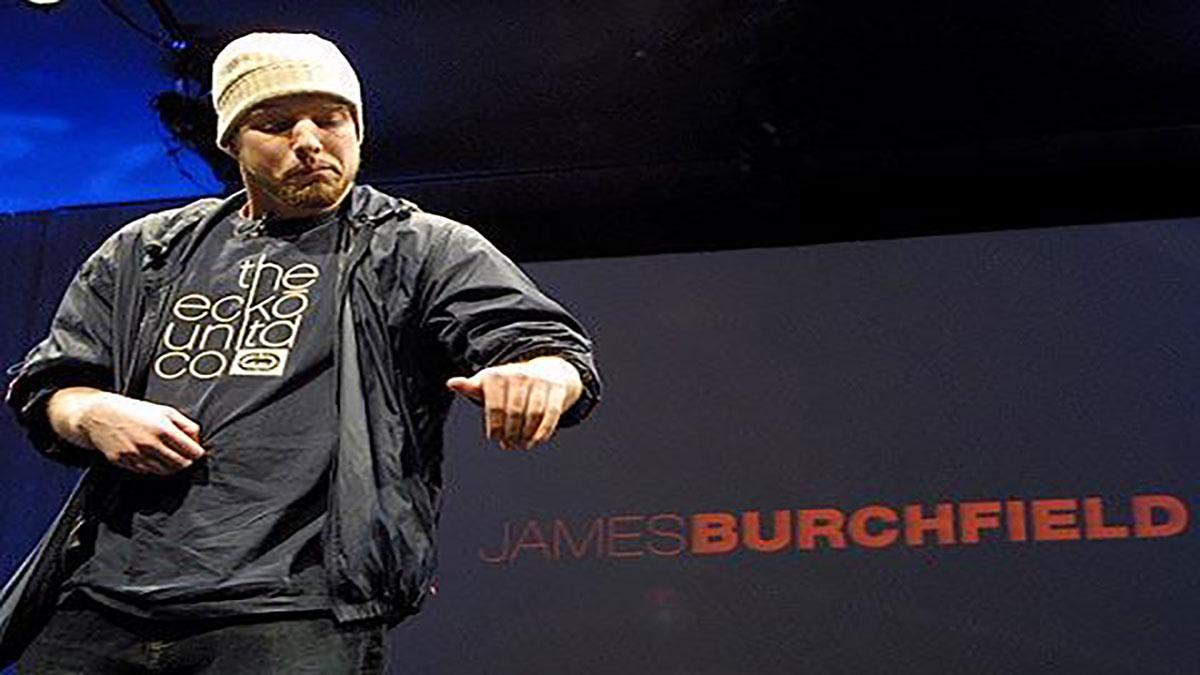 سخنرانی تد : جیمز بورچفیلد با دی جی نامرئی موسیقی اجرا می کند
