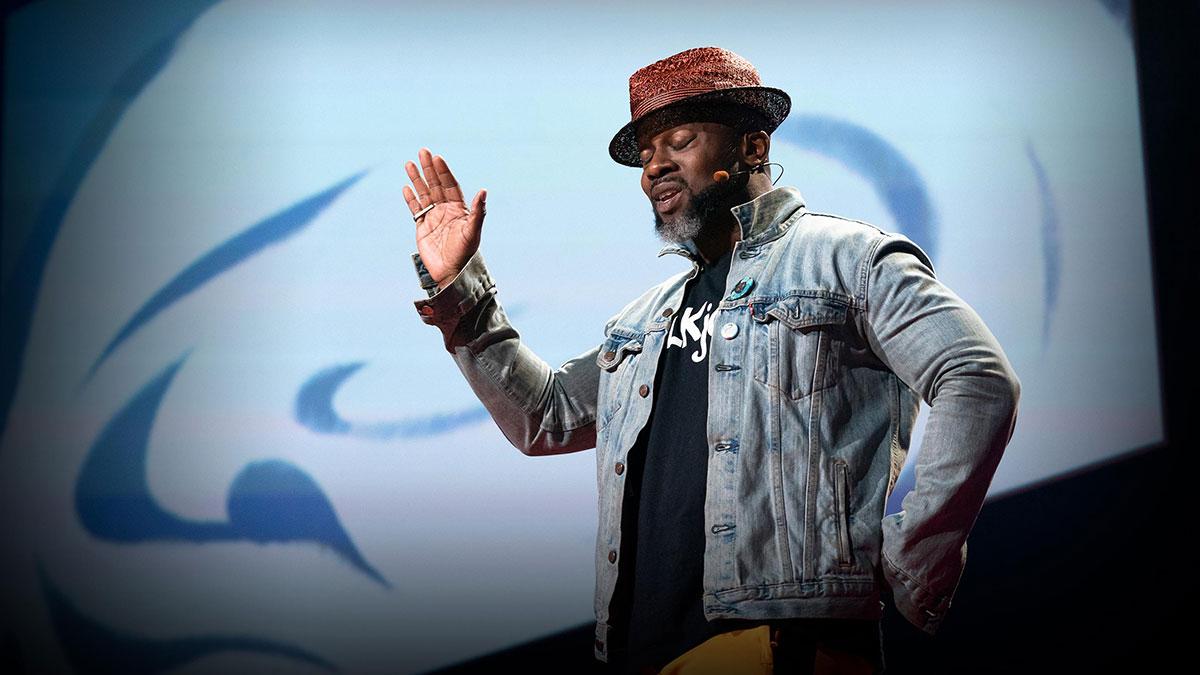 سخنرانی تد : «شما هَق دارید  (کنایهای از پایمال شدن حقوق سیاهپوستان در آمریکا) »