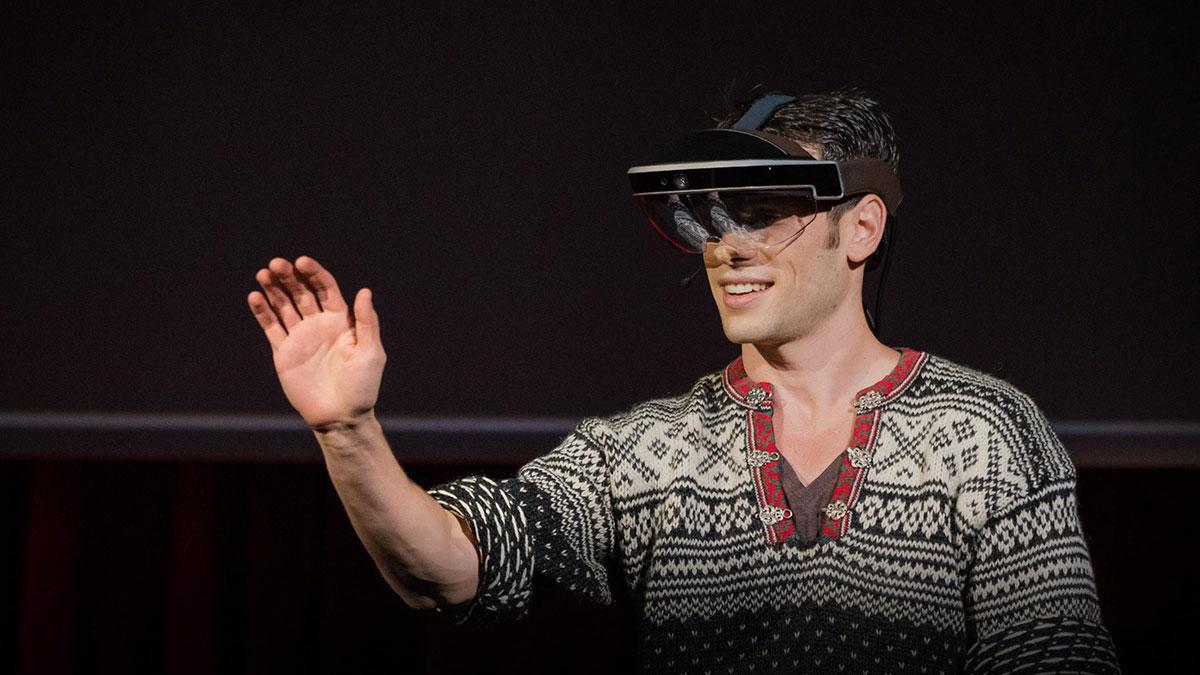 سخنرانی تد : چشم اندازی از آینده عینک های واقعیت افزوده