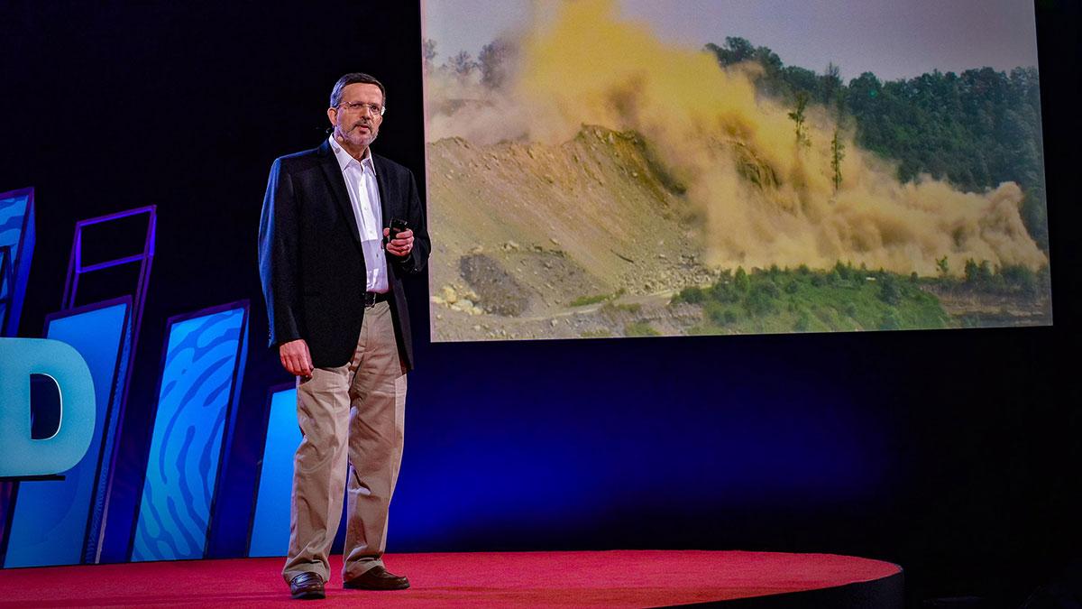 سخنرانی تد : خطر تکان دهنده استخراج از قله کوه — و چرا باید پایان یابد