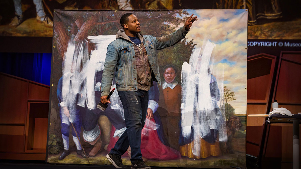 سخنرانی تد : آیا هنر میتواند تاریخ را اصلاح کند؟