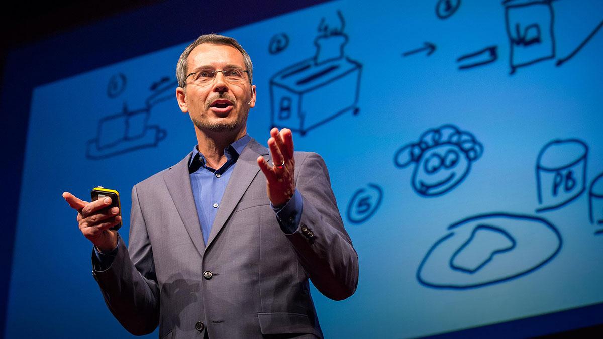 سخنرانی تد : با یک مسأله پیچیده مواجه شدی؟ اول به من بگو چطور نان برشته درست می کنی