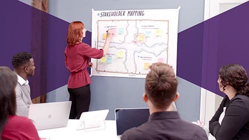 آموزش تسهیل گرافیکی برای توضیحات بهتر در تیم