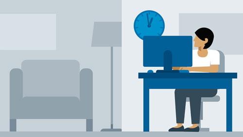 آموزش مدیریت زمان برای دور کاری و کار در خانه